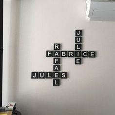 See more from this shop on Etsy, a global marketplace of creative businesses. Scrabble Letters, Wooden Letters, Silicone Glue, Smooth Walls, Scandinavian Style, Decoration, Creative Business, Unique Gifts, Gray Color