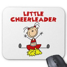 Little Cheerleader T-shirts and Gifts Mousepad  Find lots of other kids gifts and apparel at http://www.zazzle.com/toddlersplace?rf=238785193994622463