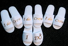 Circuit Projects Discover I do crew- Bridesmaid Slippers - Bride Slippers- I do crew slippers- Bridesmaid Slipper Set - Wedding Slippers - I do slippers - Slippers It is not to late to get your bridesmaid gifts February Brides! Bride Slippers, Wedding Slippers, Before Wedding, Wedding Day, Dream Wedding, Wedding Flowers, Wedding Poses, Rustic Wedding, Bridesmaid Slippers