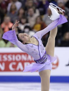 Mao Asada, of Japan, competes during the free skate in the World Figure Skating Championships, Saturday, April 2, 2016, in Boston. (AP Photo/Steven Senne) (1642×2144)