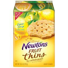 Nabisco Newtons Fruit Thins Lemon Crisp Crispy Cookies