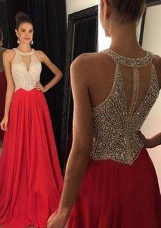New Arrival Elegant Sleeveless Beading Long Prom Dresses/Evening Dresses