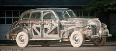 Pontiac Deluxe Six, covered in Plexiglas, built in 1939 by General Motors and chemical co Rohm and Haas.