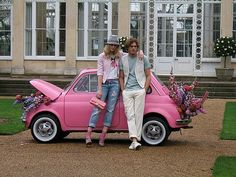 OUR PINK FIAT 500 'BUBBLE GUM' IN USA GLAMOUR MAGAZINE SHOOT by Ricambi Fiat 500, via Flickr
