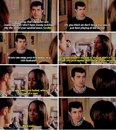 Michaela telling Simon off - 3x05