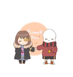 Flowerfell | Sans and Frisk | Flowers