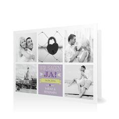 Hochzeitseinladung Mosaik in Blauviolett - Klappkarte flach #Hochzeit #Hochzeitskarten #Einladung #Foto #kreativ #modern https://www.goldbek.de/hochzeit/hochzeitskarten/einladung/hochzeitseinladung-mosaik?color=blauviolett&design=30&utm_campaign=autoproducts