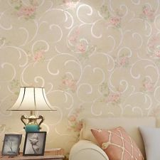 Non-woven wallpaper Retro bedroom garden flower living room sofa Free Shipping