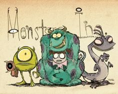 Monster ınc : Tim Burton style.