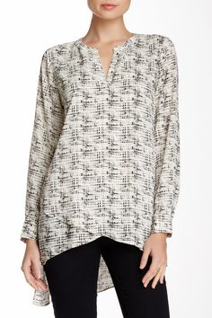 Pleione | Print Layered Split Neck Tunic | Nordstrom Rack