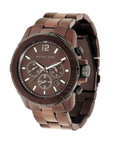 Luxury Watch Boutique - Michael Kors Mens Espresso Grayson Chronograph Watch MK8217, £175.00 (http://www.luxurywatchboutique.com/michael-kors-mens-espresso-grayson-chronograph-watch-mk8217/)