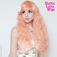 Gothic Lolita Wigs Store Rhapsody™ Collection - Peachy Pink – Dolluxe® We are very excited to be bringing you this wig which takes roughly 3 times the man hours as our other wigs. It involves a very meticulous process of mixing & blending two contrasting colors, compounded with tight hand braiding to form its unique texture. This carefree bohemian look also works perfectly with Gyaru. #gothiclolitawigs #GLW #IAMDOLLUXE #wig #coolhair #hairfashion #style #hairstyle #beautiful #pretty