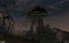 Morrowind: Balmora's stilt strider