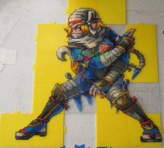 Hyrule Warriors: Sheik Perler Beads by VV-Weegee Hama Beads, Perler Bead Art, Fuse Beads, Pearler Bead Patterns, Perler Patterns, Beaded Cross Stitch, Cross Stitch Patterns, Pixel Art Objet, The Legend Of Zelda