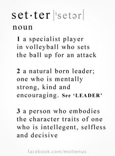 Volleyball - Share your love for all the setters out there! #Molten