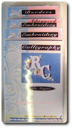 4 DVD's Calligraphy in Sugar Borders in Sugar Embroidery in Sugar Advanced Embroidery in Sugar
