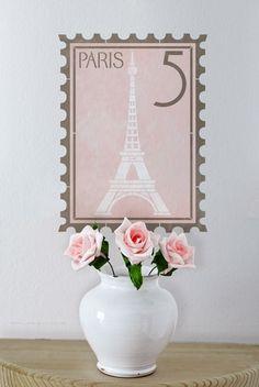 Paris stamp wall