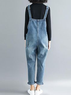 Women's Baggy Overalls & Dungarees in Vibrant Colors and Funky Styles Denim Dungarees Outfit, Maternity Dungarees, Womens Dungarees, Dungaree Dress, Overalls Women, Women's Overalls, Casual Dress Outfits, Summer Dress Outfits, Funky Fashion