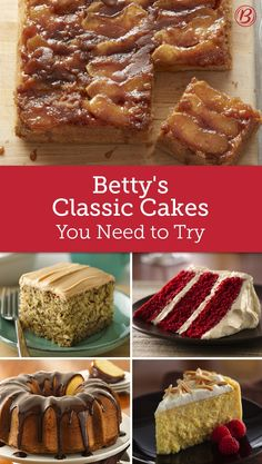 If you're looking for the best cake recipes on Pinterest, you've found it! These recipes are all Betty-approved, so you know they're delicious!
