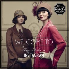 Welcome to the official Miss Fisher's Murder Mysteries Instagram, for all things #MissFisher. #FollowUs for updates on the #TVSeries, exclusive cast interviews, Series 3 Photos, #News, Behind the Scenes Photos and info on the #FestivalofPhryne and #CostumeExhibition.  #Costume #PeriodDrama #TV #1920s #Fashion