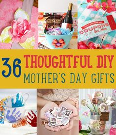 36 Thoughtful DIY Mothers Day Gifts by DIY Ready at  http://diyready.com/diy-gifts-mothers-day-ideas/