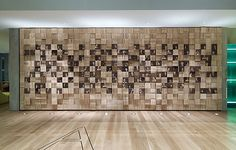 ENGRAVED OAK WALL INSTALLATION FOR UO on Behance