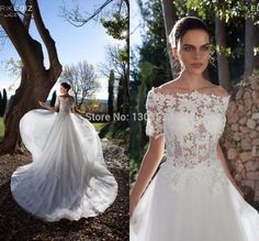 Find More Wedding Dresses Information about Amazing Custom Made A Line Button  Bride Lace  Long Lace Appliques Vestido De Noiva 2015 Wedding Dresses Gown,High Quality gown hair,China dress heels Suppliers, Cheap gown wedding dress from party  Queen Fashion Store on Aliexpress.com