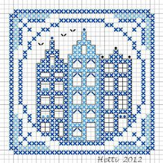 Part 7 of the SAL Delft Blue Tiles 2012 - cross stitch chart