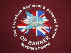 Northern Ireland Para Parachute Regiment, Paratrooper, Military Art, Northern Ireland, Aviation, Banner, Signs, Image, Banner Stands