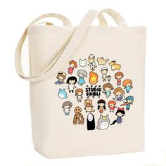 Studio-Chibi ~ Studio Ghibli ~ Leinwand Einkaufstasche