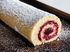 Old-Fashioned Jelly Roll Recipe - Compared to traditional jelly roll recipes, this beautiful roulade relies on a streamlined recipe a - Cinnabon, Köstliche Desserts, Dessert Recipes, Plated Desserts, Yummy Recipes, Baking Recipes, Recipies, Quilt Festival, Jelly Roll Projects