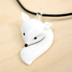 Handmade Gifts | Independent Design | Vintage Goods Glass Fox Necklace - Best Sellers