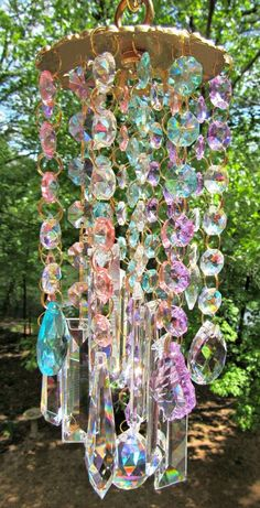 Crystal Wind Chime, Crystal Sun Catcher, Glass Wind Chime