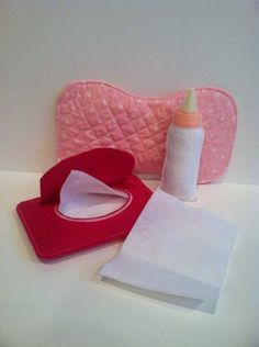 Pretend Play Baby Doll Accessories by MMEmbroideredGifts on Etsy, $15.00
