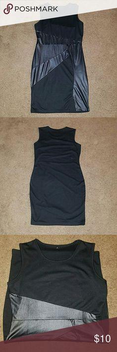Sexy LBD ???? Comfy 2 tone pattern black dress, Simple & Sexy Dresses Mini