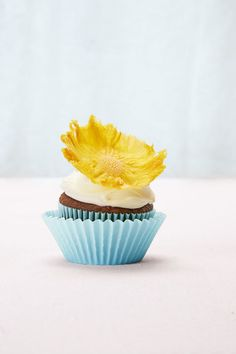 Pineapple Flower Cupcake #baking