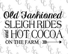 Reusable Stencil - Sleigh Rides & Hot Cocoa - Many Sizes to Choose from! Dashing Through The Snow, Christmas Stencils, Sleigh Rides, Cocoa, Pattern Design, Horse Drawn, Woodburning, Handmade, Silhouettes