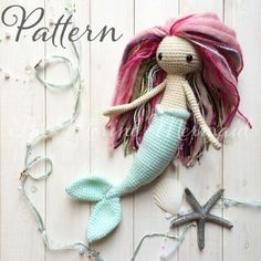 Miriam the Mermaid Crochet Amigurumi Doll Toy por TheMerinoMermaid