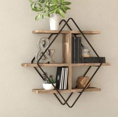 Trista Wall Shelf You'll love the Amott Wall Shelf at Wayfair - Great Deals on all Décor & Pillo Corner Wall Shelves, Wood Wall Shelf, Wood Shelves, Display Shelves, Wall Shelving, Shelving Ideas, Wall Shelf Decor, Industrial Wall Shelves, Wood Floating Shelves