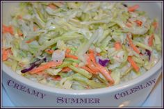 SUMMER COLESLAW Sweet restaurant style coleslaw.  Perfect on top of Turkey Reuben or as a side for lunch.