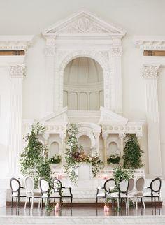 Gorgeous modern-gothic styled shoot with at - featured on (Venue: Gothic Wedding, Luxury Wedding, Wedding White, Modern Gothic, Intimate Wedding Ceremony, Bridal Salon, Wedding Locations, Event Design, Wedding Inspiration
