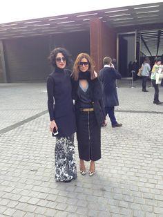 Fashion fabulous style icons: Christine Centenera and Yasmin Sewell.