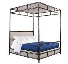 Bank Street Canopy Bed (King) from the Jeffrey Bilhuber collection by Henredon Furniture