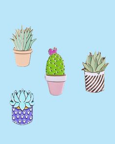Gentle Potted Plants Badges Cactus Cucculents Aloe Cute Metal Alloy Pins For Womens Brooch On Backpack Clothes Jewelry Badge Brooches Buy One Give One Home & Garden Badges