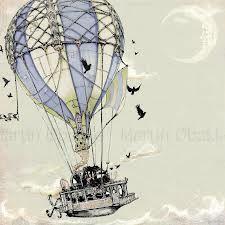 steampunk hot air balloon tattoo