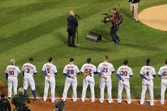 .@billyjoel sings tonight's National Anthem! #WorldSeries #Mets #LGM