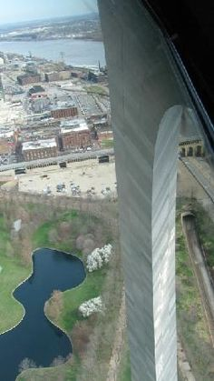 Looking out the Gateway Arch, St. Louis, Missouri.  Go to www.YourTravelVideos.com or just click on photo for home videos and much more on sites like this.