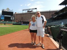 Oriole Park at Camden Yards. Ballpark tour: on the field