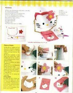 Artesanato e Cia: pucca e Hello Kitty em Feltro