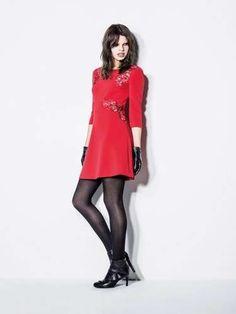 Abbigliamento Sisley Autunno Inverno 2014-2015 - Minidress rosso Sisley